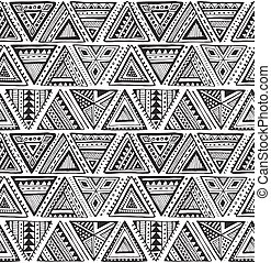 Vector seamless pattern with black and white hand drawn...