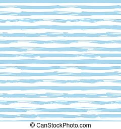 Vector seamless pattern with blue brush strokes. Striped...