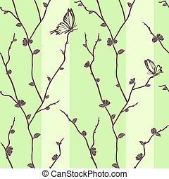 Vector seamless pattern with butter
