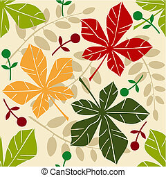 Vector seamless pattern with chestn