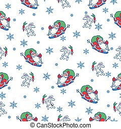 seamless pattern with Christmas motif
