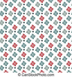 Vector seamless pattern with classic ornament.