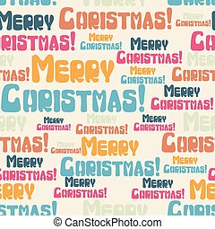 Vector seamless pattern with colored Merry Christmas
