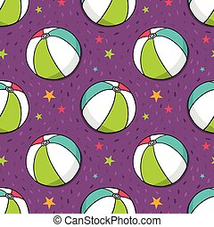 Vector seamless pattern with colorful balls
