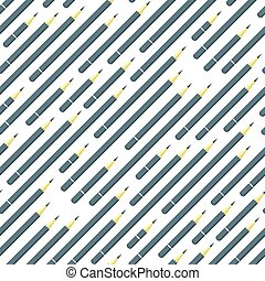 vector seamless pattern with colorful paint pencils