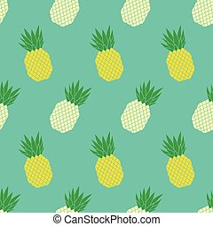 Vector seamless pattern with colorful pineapples