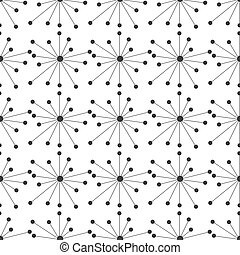 Vector seamless pattern with constellation on white background. Repeating backdrop of space, galaxy. Molecular structure background. Endless trendy design for wallpapers, textiles.