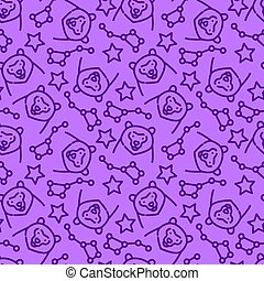 Vector seamless pattern with constellations - Seamless...