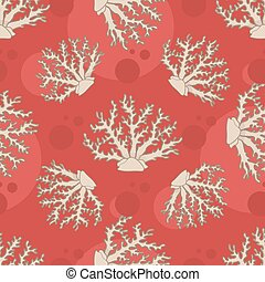 Vector seamless pattern with coral