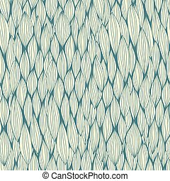 Vector seamless pattern with curvy elements