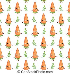 Cartoon vegetable character Carrot.