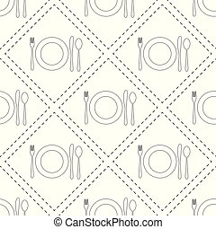 Vector seamless pattern with cutlery.