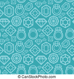 Vector seamless pattern with diamond icons