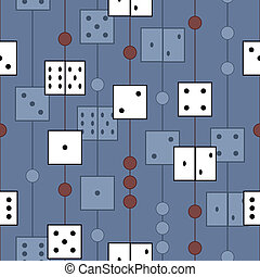 pattern with dices