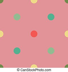 Vector seamless pattern with dots. Pink background