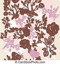 Vector seamless pattern with flower
