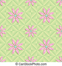 vector seamless pattern with flowers