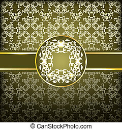 Vector Seamless pattern with Frame for Your Text