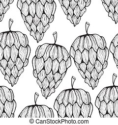 Vector Seamless Pattern with Funky Cones