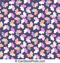 Vector seamless pattern with geometric butterflies