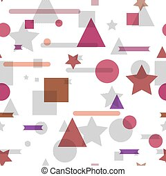 Vector seamless pattern with geometric shapes.
