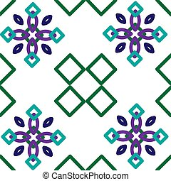 vector seamless pattern with geometric shapes