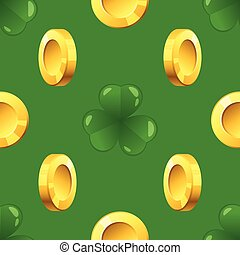 pattern with golden coins