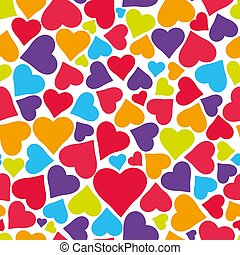 Vector seamless pattern with hearts.