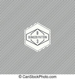 Vector seamless pattern with hipster vintage old banner. ...