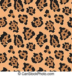Vector seamless pattern with jaguar skin. Endless modern background.