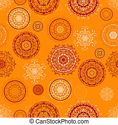 Vector Seamless Pattern with Lacy Elements