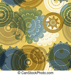 vector seamless pattern with lacy napkins