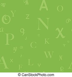 Vector seamless pattern with letters of the alphabet