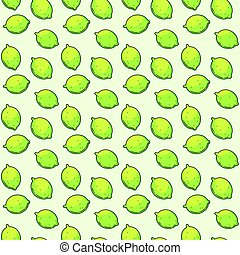 Vector seamless pattern with limes. - Seamless pattern with ...