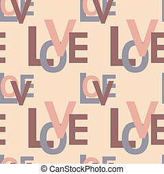 Vector seamless pattern with love