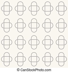 Vector seamless pattern with ovals