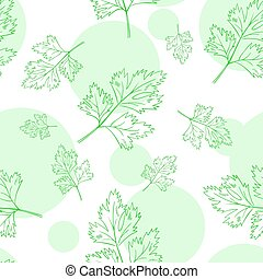 vector seamless pattern with parsley leafs