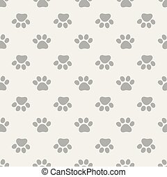Vector seamless pattern with paws footprints.