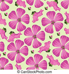 Vector seamless pattern with pink f