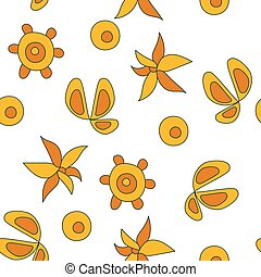 Vector Seamless Pattern with Plants