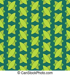 Vector Seamless pattern with repeating green leaves.