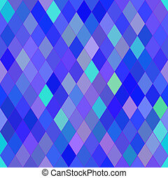Vector seamless pattern with rhombs. Abstract bright blue and purple texture. Geometrical background. Monochrome backdrop.