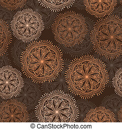 vector seamless pattern with sabstract flowers