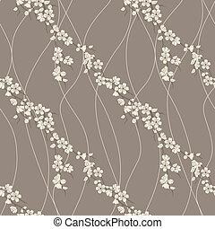 Vector seamless pattern with sakura - Beautiful vector...