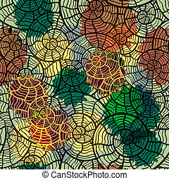 vector seamless pattern with sea shells, clipping mask, eps10