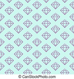 Vector seamless pattern with shiny diamonds.