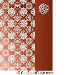 vector seamless pattern with snoflakes on the left and place...