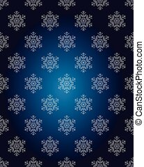 Vector seamless pattern with snowflakes. Winter background.