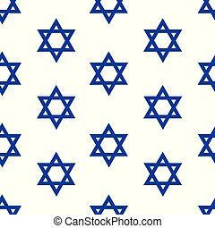 Star of David - Vector seamless pattern with Star of David....