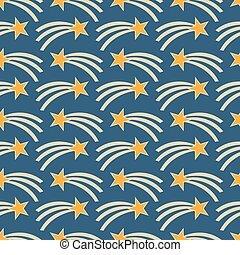 Vector seamless pattern with stars